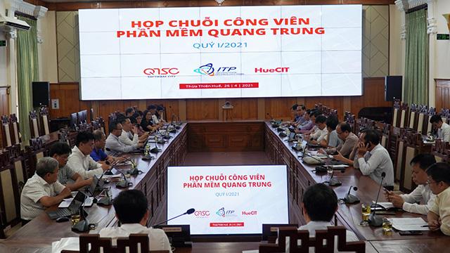 Chuỗi Công viên phần mềm Quang Trung họp tổng kết Quý 1/2021 tại Thừa Thiên Huế