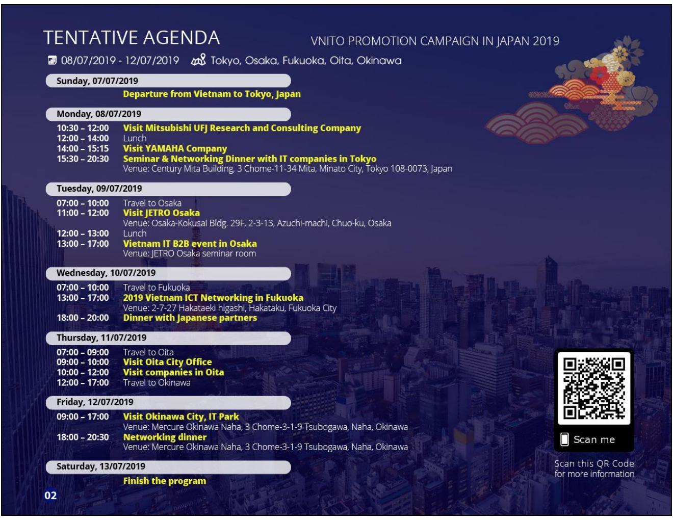 Chương trình Xúc tiến thương mại tại Nhật Bản lần V năm 2019