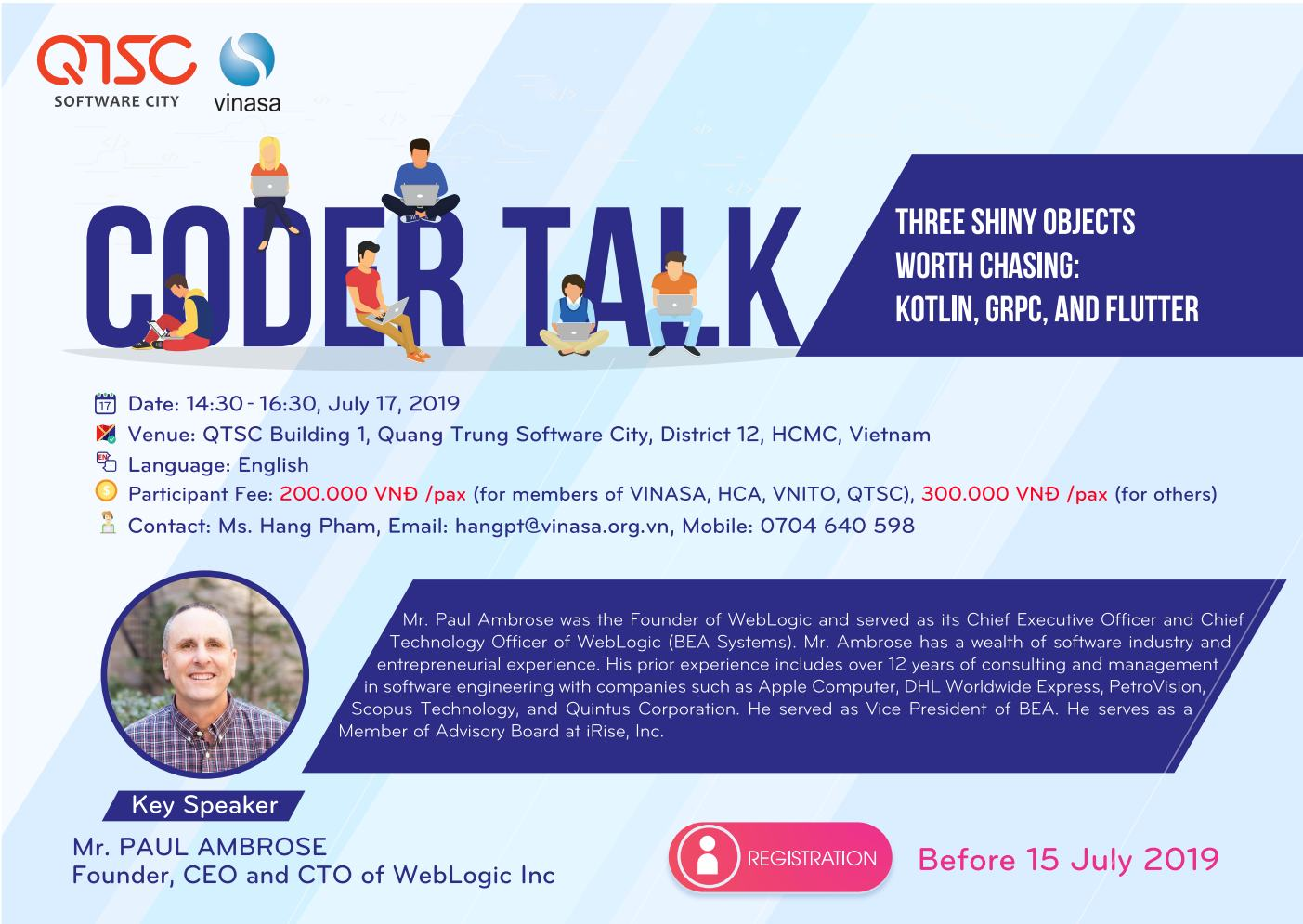 Invitation to Coder Talk: