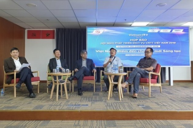 Ban Tổ chức hội nghị VNITO 2019, Ban Cố vấn VNITO chia sẻ thông tin tại buổi họp báo