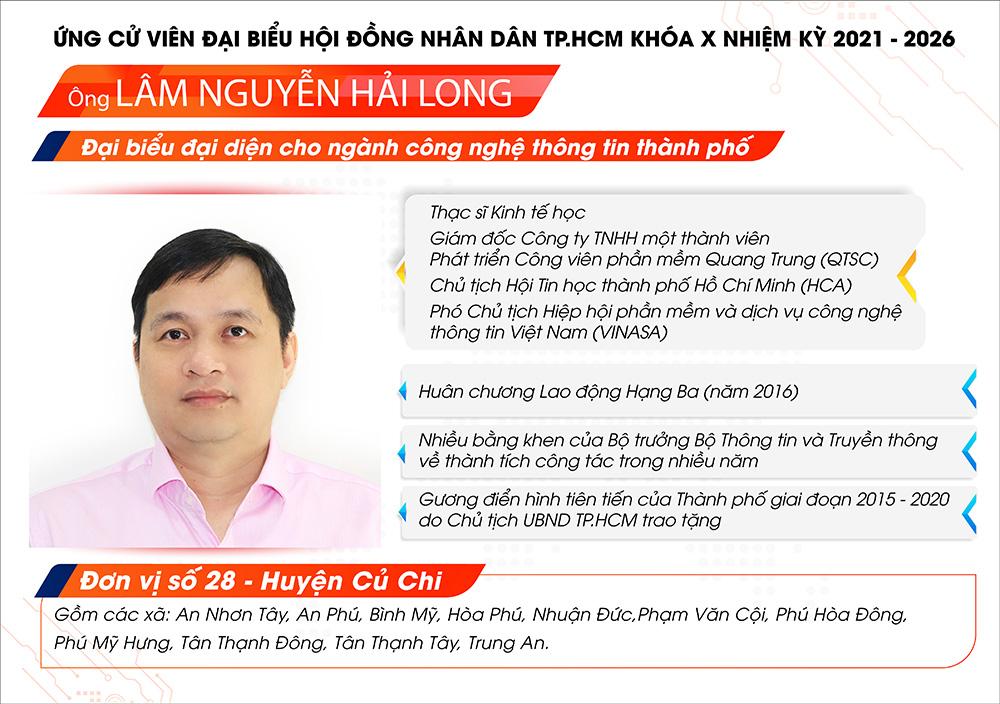 Giám đốc QTSC ứng cử Đại biểu Hội đồng nhân dân TP.HCM  nhiệm kỳ 2021 – 2026